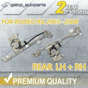 For Isuzu D-Max Holden Rodeo RA Colorado RC REAR LH RH Window Regulator w/ Motor