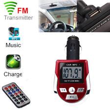 Wireless Auto MP3 Player FM Transmitter Modulator LCD KFZ Kit USB Remote SD MMC