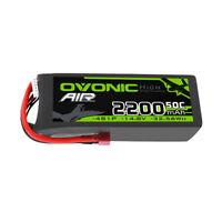 Ovonic 14.8V 2200mAh 4S 50C LiPo Battery Deans+EC3 Plug For RC Car Airplane FPV