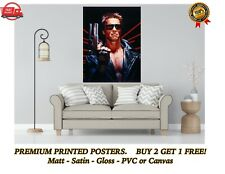More details for the terminator classic arnold movie large poster art print gift a0 a1 a2 a3 a4