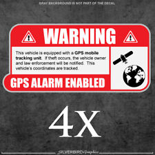 4x GPS / tracking / sticker / decal / vehicle / anti theft / security / window