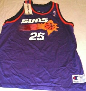 Vintage Champion Phoenix Suns Robert Horry #25 NBA Basketball Jersey Adult 52