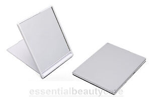 Small Folding Compact Travel Shaving Make-up Mirror in Black, White or Pink