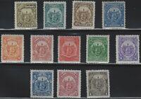 El Salvador - 1895 - Scott # 117 thru 128 - Complete Set - Mint Lightly Hinged