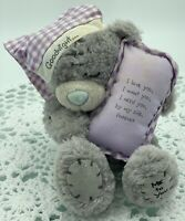 Me To You Tatty Teddy Bear 'Goodnight' Purple, Blue Nose, Carte Blanche