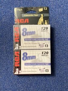 RCA 8mm Camcorder Tape 120 Minutes Double Pack  Model P6120-Sealed