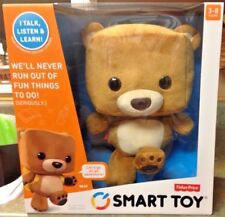 Fisher-Price Smart Toy Talking Learning Interactive Plush Stuffed Bear New MISB
