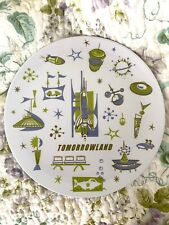 Disney Parks Collectible Tomorrowland Map Midcentury Melamine Dinner Plate