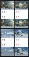 Brit. Antarktis BAT Antarctic 2000 Antarktische Symphonie Stegpaare 311-314 MNH