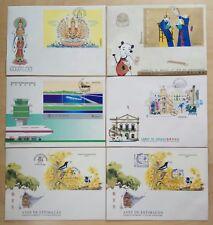 1995 Macau Complete Set SS + Singapore Expo Cachet 6 FDC 澳门全年发行全套+新加坡邮展共6个小型张首日封