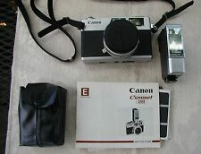Canon Canonet 28 35mm Rangefinder Film Camera 40mm 2.8 Lens, Flash, User Manuals