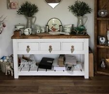 BESPOKE RUSTIC FARMHOUSE PAINTED CONSOLE TABLE 1500 W x 750 H x 450 D