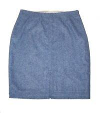 NWT Banana Republic Flannel Trapun Pencil Skirt Blue 4 Wool Blend