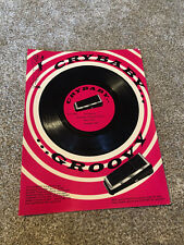 Original 1967 Crybaby Wah Pedal Original Advertising sheet & 45 Record - Rare!