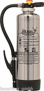 Jockel 6L AB WH DIN EN 3 Chrom Design Feuerlöscher Schaum Sk6J 6817600 NEU