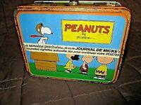 Ancienne boite métallique 1959-PEANUTS-Schulz-thermo vintage-Journal de Mickey