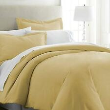 ienjoy BLL-DUVET-KING-GOLD Home Luxury Collection Soft Brushed Microfiber Duver Cover Set King Size - Gold