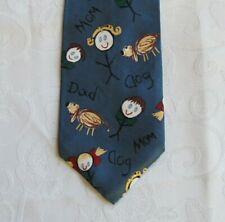 """Men's 100% Silk Save the Children Necktie Amy Age 13 """"The World We Live In"""""""