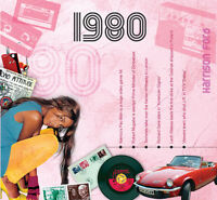 1980 BIRTHDAY GIFT - 1980 Compilation Pop CD and Year Greeting Card