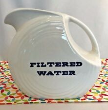 Fiestaware White Filtered Water Large Disc Pitcher Fiesta Water Pitcher