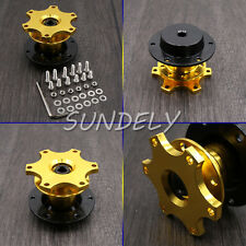 Car Golden Steering Wheel Quick Release HUB Racing Adapter Snap Off Boss Kit AU