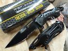 Tac Force Tactical POLICE Assist Folding Pocket Knife Black Serrated Edge