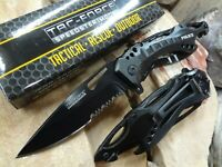 Tac Force Tactical POLICE Assist Folding Pocket Knife Black Serrated Edge