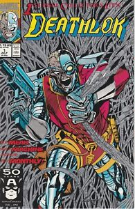 Deathlok #1 Marvel Comics book 1991 NM 9.4 Silver Ink cover Cowan $1.75 Forge