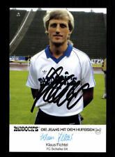Klaus Fichtel Autogrammkarte FC Schalke 04 1984-85 Original  + A 195833