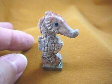 (Y-SEAH-WB-16) SEA HORSE gray seahorse dragon carving stone SOAPSTONE seahorses