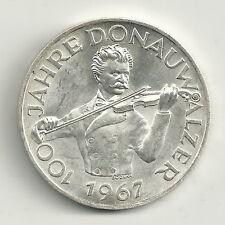 "50 Schilling ""100 Jahre Donauwalzer"" 1967 Silber Zertifikat Stgl."