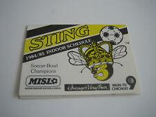 1984/85 MISL CHICAGO STING POCKET SCHEDULE ***WGN-TV 9***