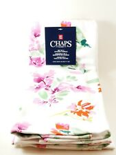 Chaps Home Set Of Two (2) Floral Water Color Pink Kitchen Towels... New