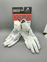 Adidas Youth Freak 3.0 Padded Receiver Football Glove w/GripTack Small White SE1