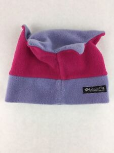 Columbia Kid's Purple and Pink Crown Jester Fleece Winter Hat Size S/M