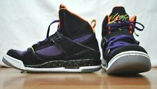 Air Jordan Flight 45 High Youth 7 Black Total Orange Atomic Green & Purple EUC