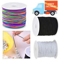 1mm Elastic Round Cord Stretchy Band for Waist Sewing Clothing Trouser Tailoring
