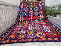 Vintage Handmade Moroccan Azilal Rug Beni Ourain Wool Rug Berber Carpet