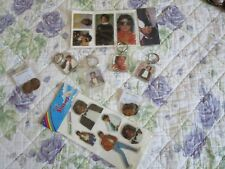 MICHAEL JACKSON THRILLER ERA KEY RINGS KEYCHAIN EARRING STICKER LOT NEW NO PROMO
