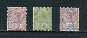 V416  Jamaica  1889/91  Queen Victoria  3v.   MH