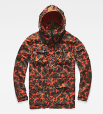 G-Star Raw Ospak Submarine Hooded Jacket, Tador Orange / Arsenic Pattern, XL