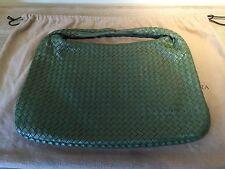 Bottega Veneta Large Green Leather Woven Hobo $2,600