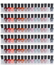 Display4top 6 Pack Of Shelf Clear Acrylic Nail Polish Wall Rack Organizer Holds