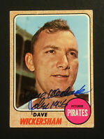 Dave Wickersham Pirates signed 1968 Topps baseball card #288 Auto Autograph 3