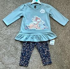 George BAMBI Baby 2 Piece Top & Leggings Set Outfit Clothes 3-6 Months - New!