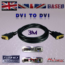 DVI-D (19Pin) to DVI-D (19Pin) CABLE/LEAD / SINGLE LINK/PC TV Monitor (3 METRES)