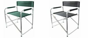 Aluminium Directors Folding Chair Padded Fishing Outdoor New 2COLOURS
