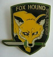 "Metal Gear Solid ""Fox Hound"" Special Force Group Enamel Pin - New"