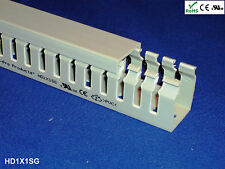 """1 New 1""""x1""""x2m Narrow Finger Open Slot Wire Cable Raceway Duct Cover, PVC - Gray"""