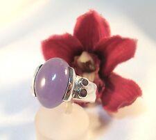 Schöner Ring 925 Silber mit lila Stein Fingerring / be 117